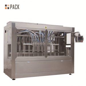 Automātiska 8 uzpildes sprauslu šķidruma / pastas / mērces / medus iepildīšanas mašīna