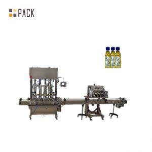 Automātiska 1-5L virzuļa pudeles burkas eļļošanas šķidruma iepildīšanas mašīna