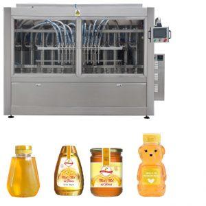 Automātiska servo virzuļa veida mērce medus ievārījuma šķidrumam ar augstu viskozitāti, kas aizpilda vāciņu marķēšanas mašīnu līniju
