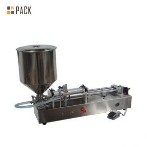 Ļoti populāra saldējuma pildīšanas mašīna / dubultgalvu uzpildes mašīna / nagu lakas pildīšanas mašīna