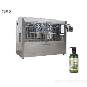 Pilnīga automātiska šampūnu pildīšanas mašīna pudelēs pildīšanai ar rokām